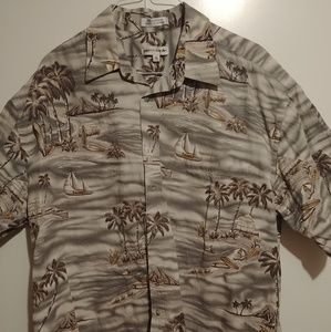 Pierre Cardin Palms Shirt Mens Size XL Hawaii